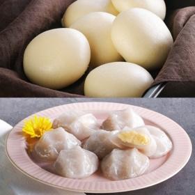 [안흥찐빵] 따뜻할때 먹어야 맛있는 찐빵+감자떡 2종세트 (쌀찐빵 10개+감자떡 600g)