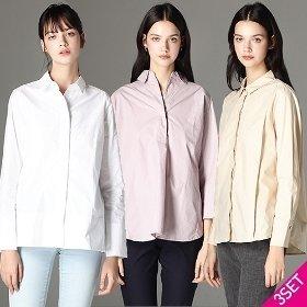 [르오트] 케이트 컬렉션 코튼 60수 셔츠블라우스 3종세트