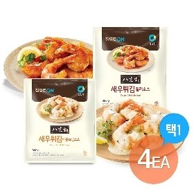 청정원 팔선생 새우튀김 (레몬크림소스/칠리소스 택1) 4개세트