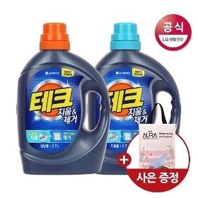 테크 지움 제거 액체세제 용기 2.7L x2개 (외 1종)+사은품증정