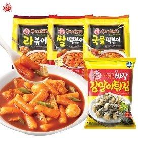 [오뚜기] 뚜기네 분식집 떡볶이 3종 2봉 + 바삭김말이 (700g) 1봉