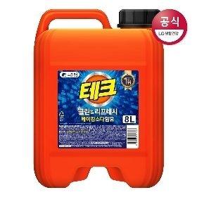 테크 파워 액체세제 클린앤리프레시 베이킹소다 함유 8L x1개