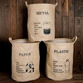 에코 원형 분리수거함 - 플라스틱