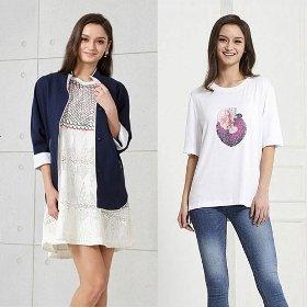 티나쉐 여성 린넨 재클린 자켓+티셔츠