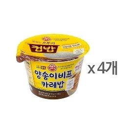 [오뚜기] 컵밥 양송이 비프카레밥 (280g) x 4
