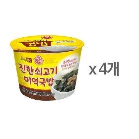 [오뚜기] 컵밥 쇠고기미역국밥 (172g) x 4