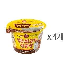 [오뚜기] 컵밥 얼큰 쇠고기전골밥 (290g) x 4