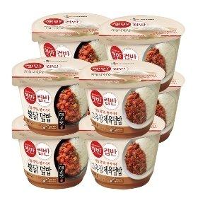 [CJ] 햇반 컵반 불닭덮밥 240g*4개 + 햇반 컵반 고추장제육덮밥 250g*4개