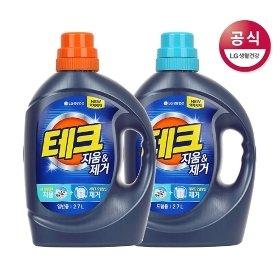 테크 지움 제거 액체세제 일반 용기 2.7L x2개(외1종)+사은품증정