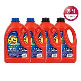 테크 베이킹소다 액체세제 일반/드럼용 용기 3L x4개+사은품증정