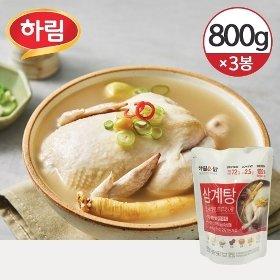 [냉동] 하림이닭 삼계탕 한마리 800g 3봉